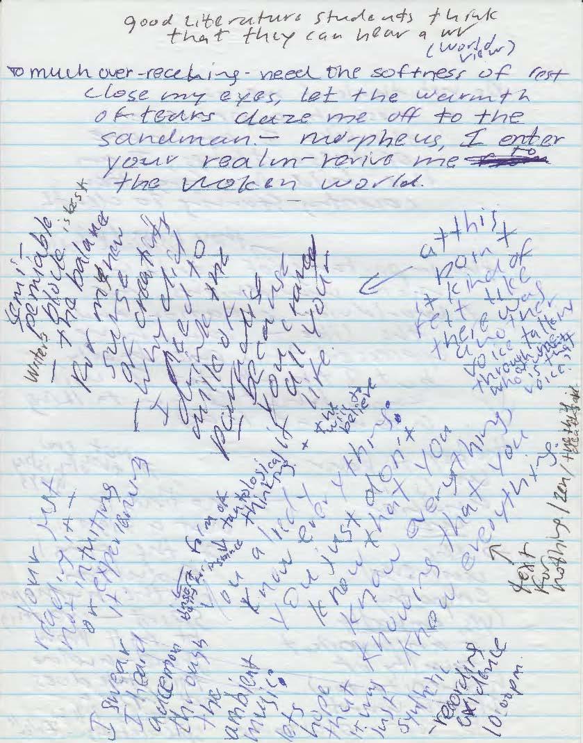 Manic Notes I (Luke Kernan)